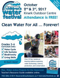 Children's Water Festival 2017 teacher registration flyer